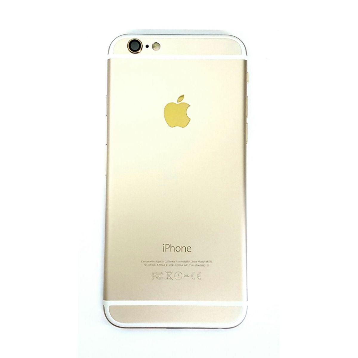 Carcaca Iphone 6G 4.7 Dourado Gold com Componentes