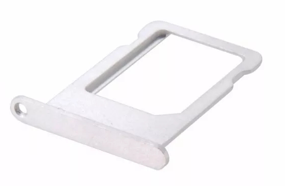 Gaveta Holder Bandeja Chip Nano Sim Card Iphone 5G 5s Branco Prata