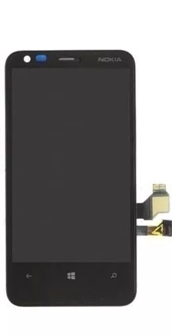 Display Frontal Nokia Lumia N620 Preto com Aro AAA