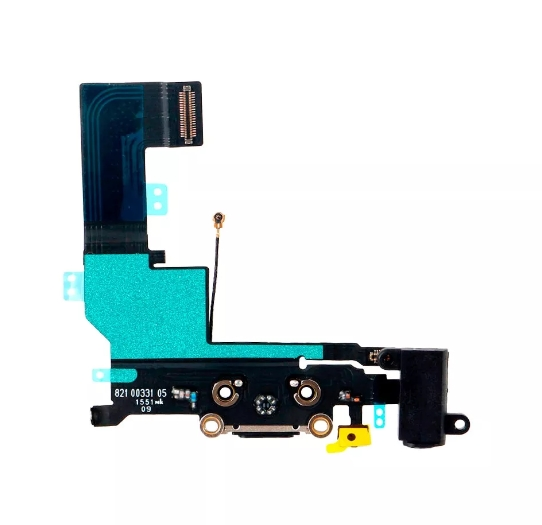 Flex Conector De Carga Microfone P2 Apple Iphone Se A1723 Preto