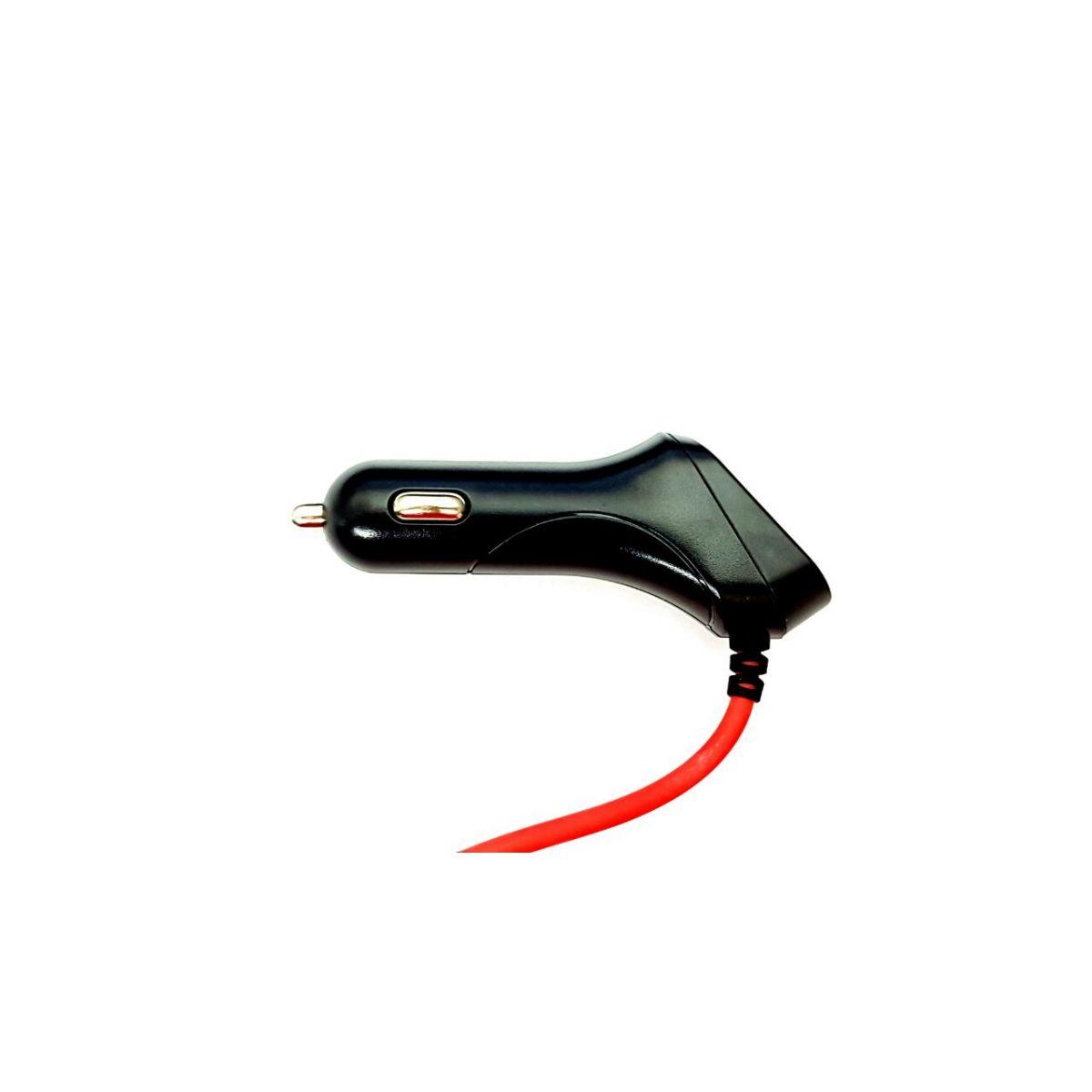 Carregador Veicular Turbo Compatível Samsung Preto com Vermelho Usb Extra 3.4A