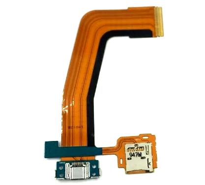 Flex Conector Carga Usb e SD Card Tablet Tab S T800 T805