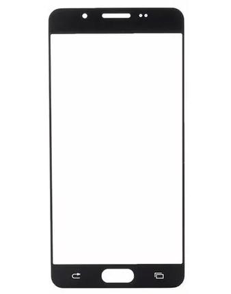 Lente Vidro Samsung A7 2016 SM-A710 Preto Colado Uv Oca