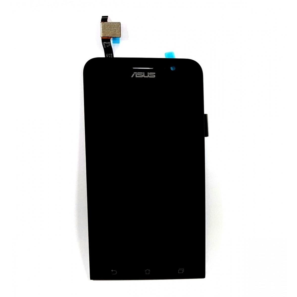Display Frontal Zenfone GO ZB500KG Sem Aro Preto 1 Linha Nova Versão - Flex Preto