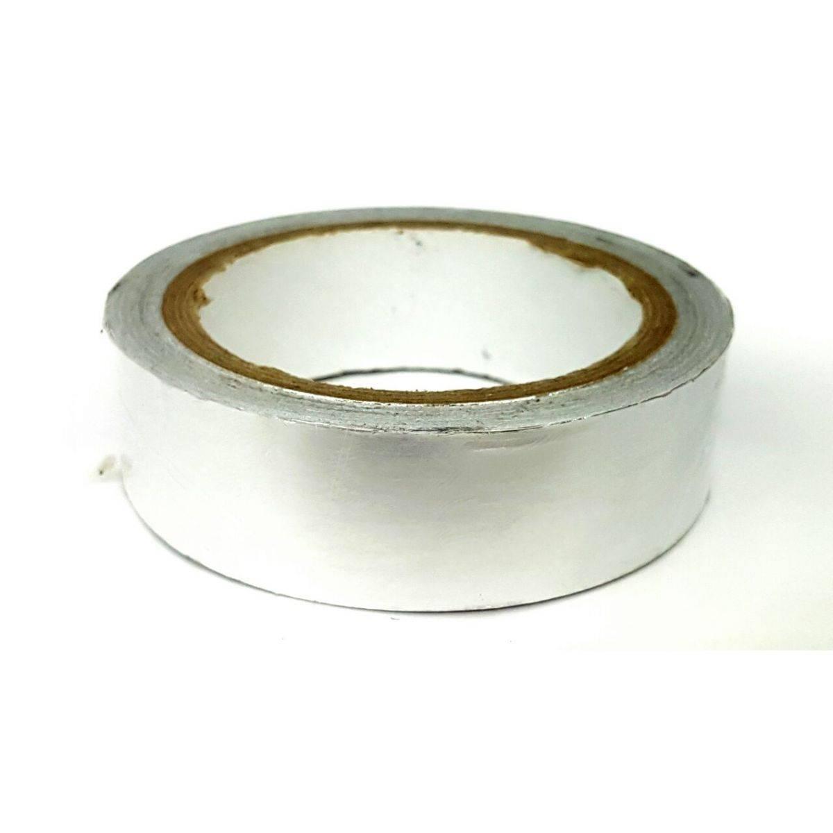 Fita Adesiva Aluminio Reflow e para Solda Cromada 40MM