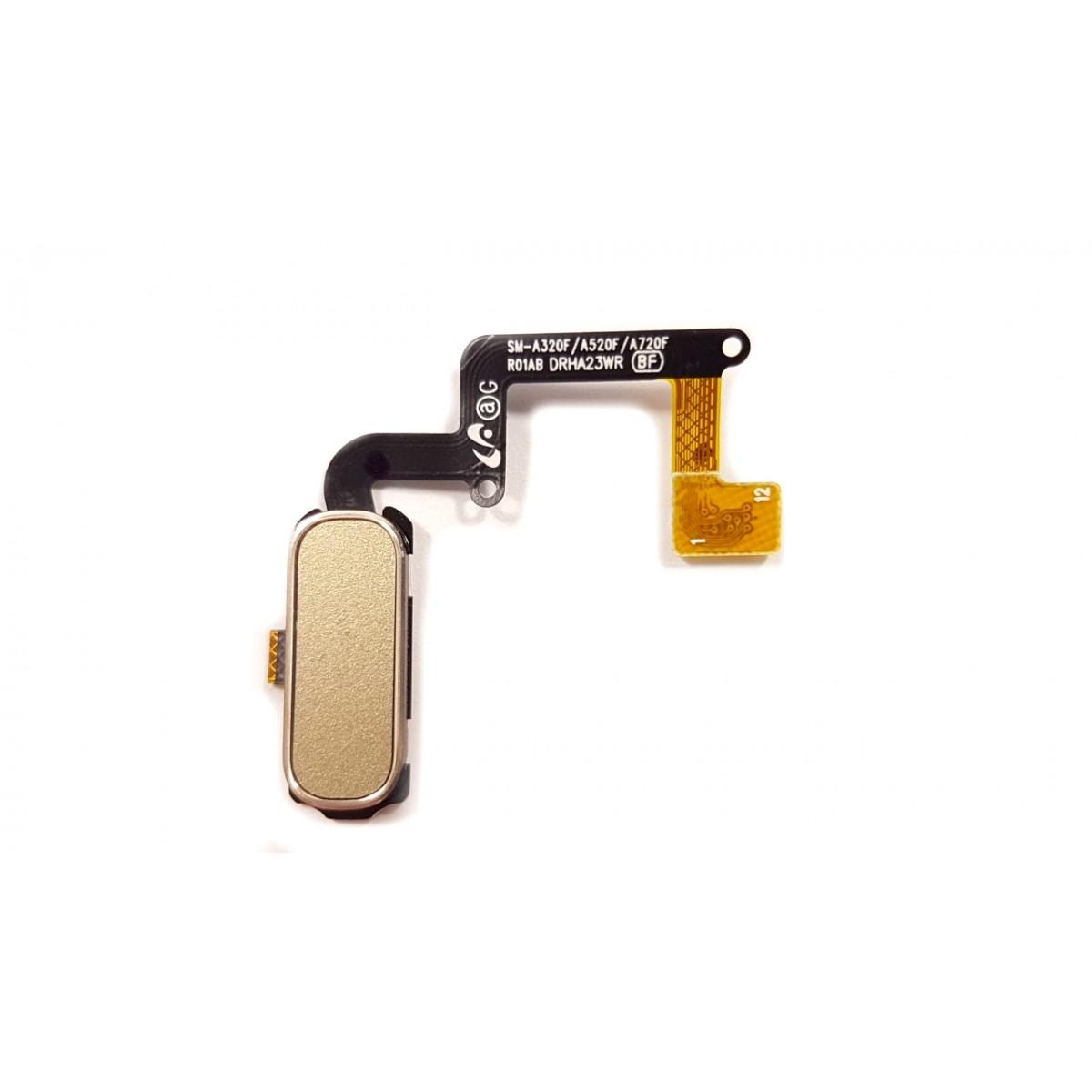 Botão Home Samsung A3 A320 2017 Dourado