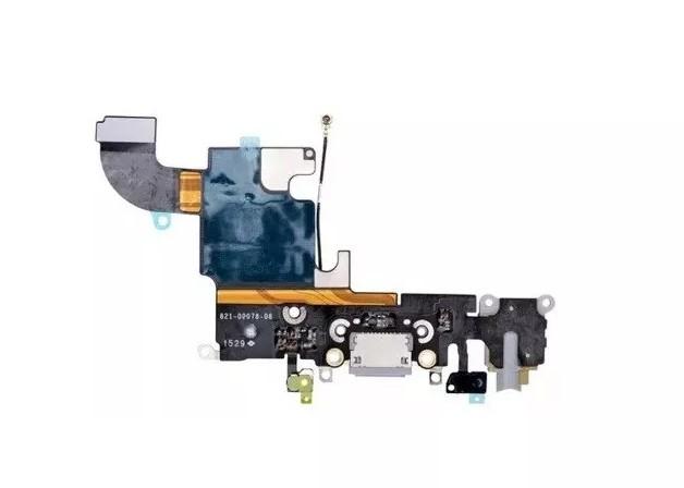 Flex Conector Carga com Microfone iPhone 6s 4.7 Branco A1633 A1688 A1700
