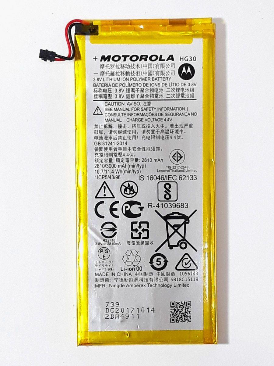 Bateria HG30 Moto G5s/ G5s Plus/ G6 1 Linha