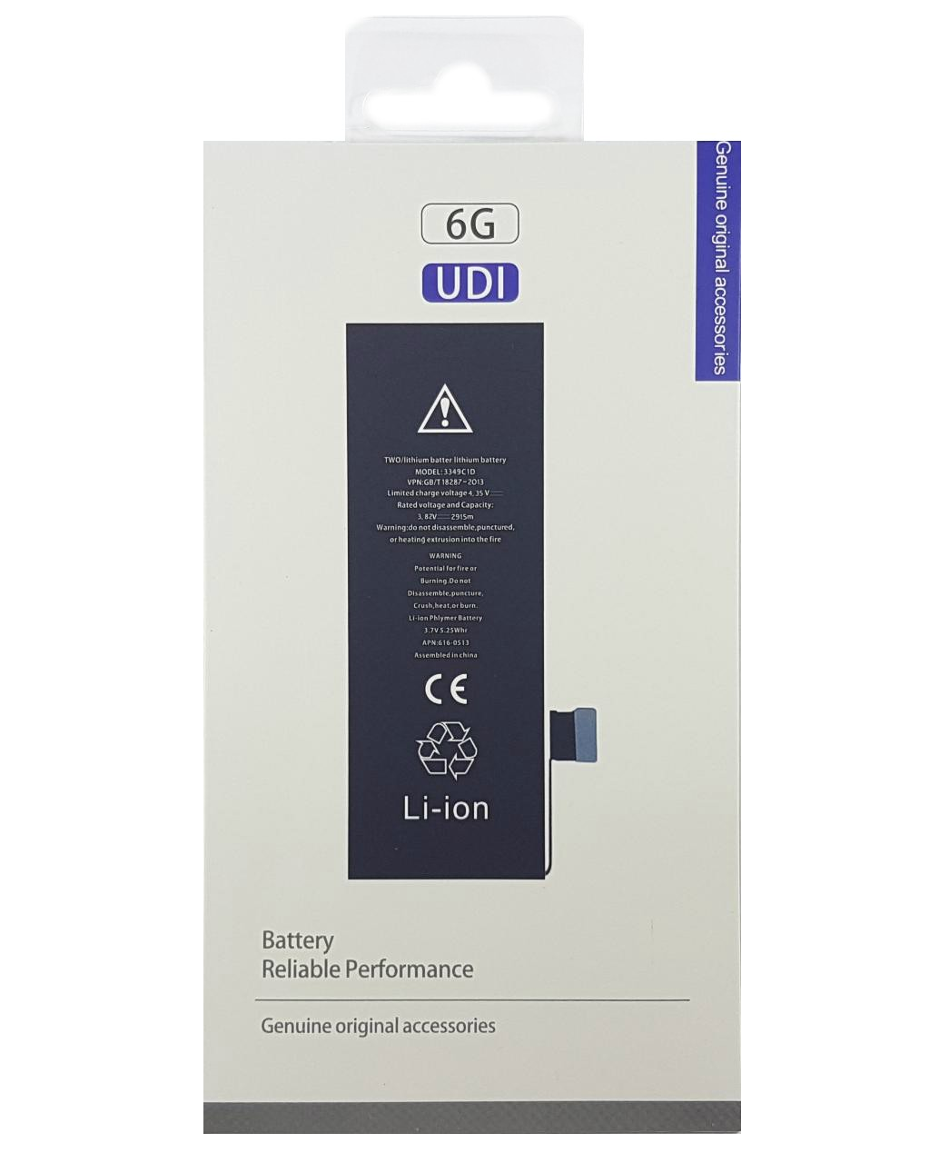 Bateria Iphone 6 6g A1549 A1586 1810mAh 3.82v Blister