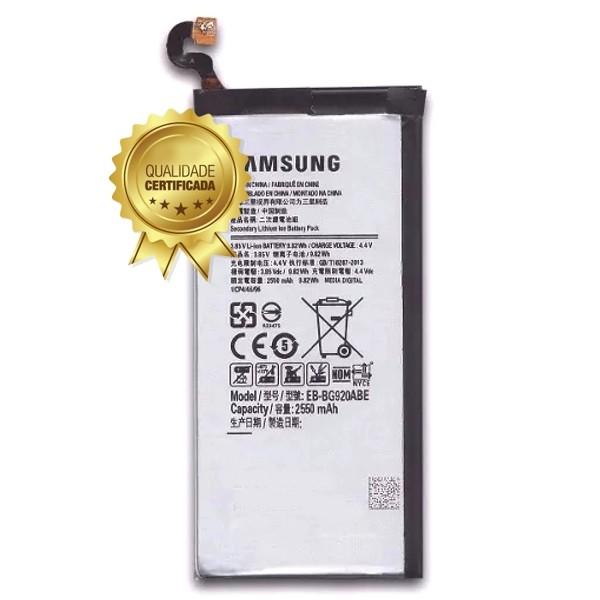 Bateria S6 G920 SM-G920 2550MAH EB-BG920ABE Compatível Samsung
