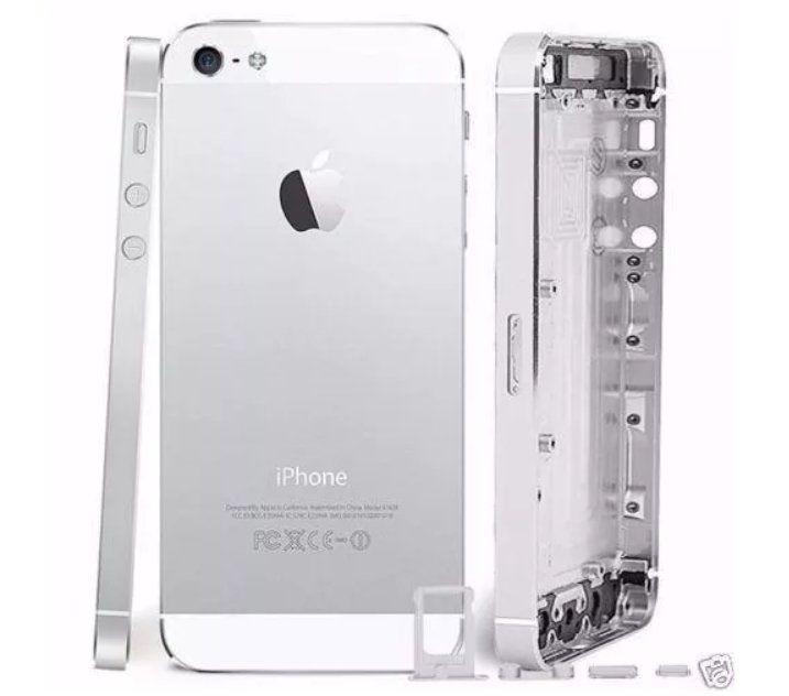 Carcaça Tampa iPhone 5G Branco Não Acompanha Flex e Componentes
