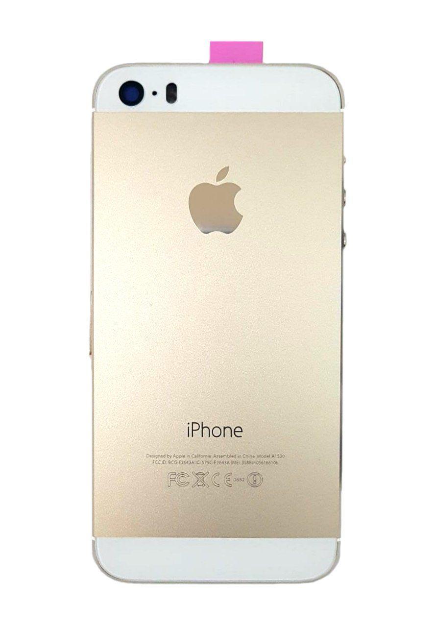 Carcaça Iphone 5s Dourado Acompanha Componentes e Flex