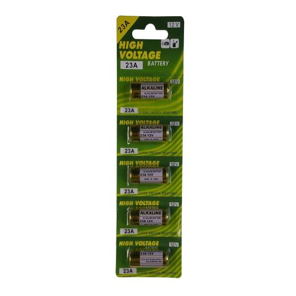 Cartela Com 5 Pilha Alkaline High Voltage 23A