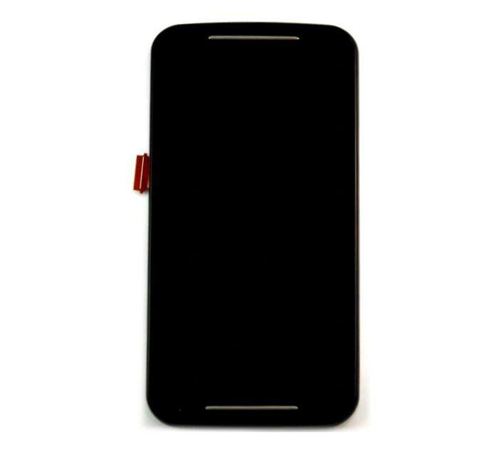 Display Frontal Moto G2 Xt1068 Xt1069 Xt1078 Xt1079 Preto Com Aro 1 Linha Max