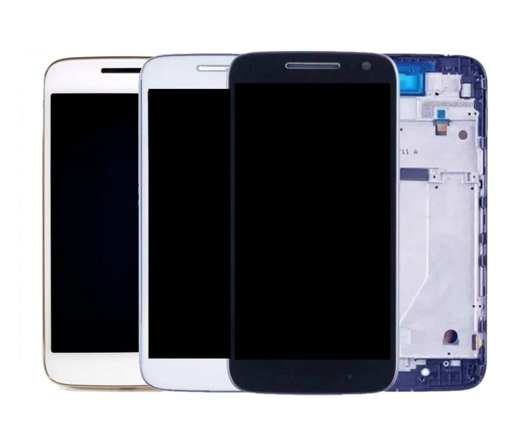 Display Frontal Moto G4 Play XT1600 XT1603 Com Aro 1 Linha Max - Escolha Cor