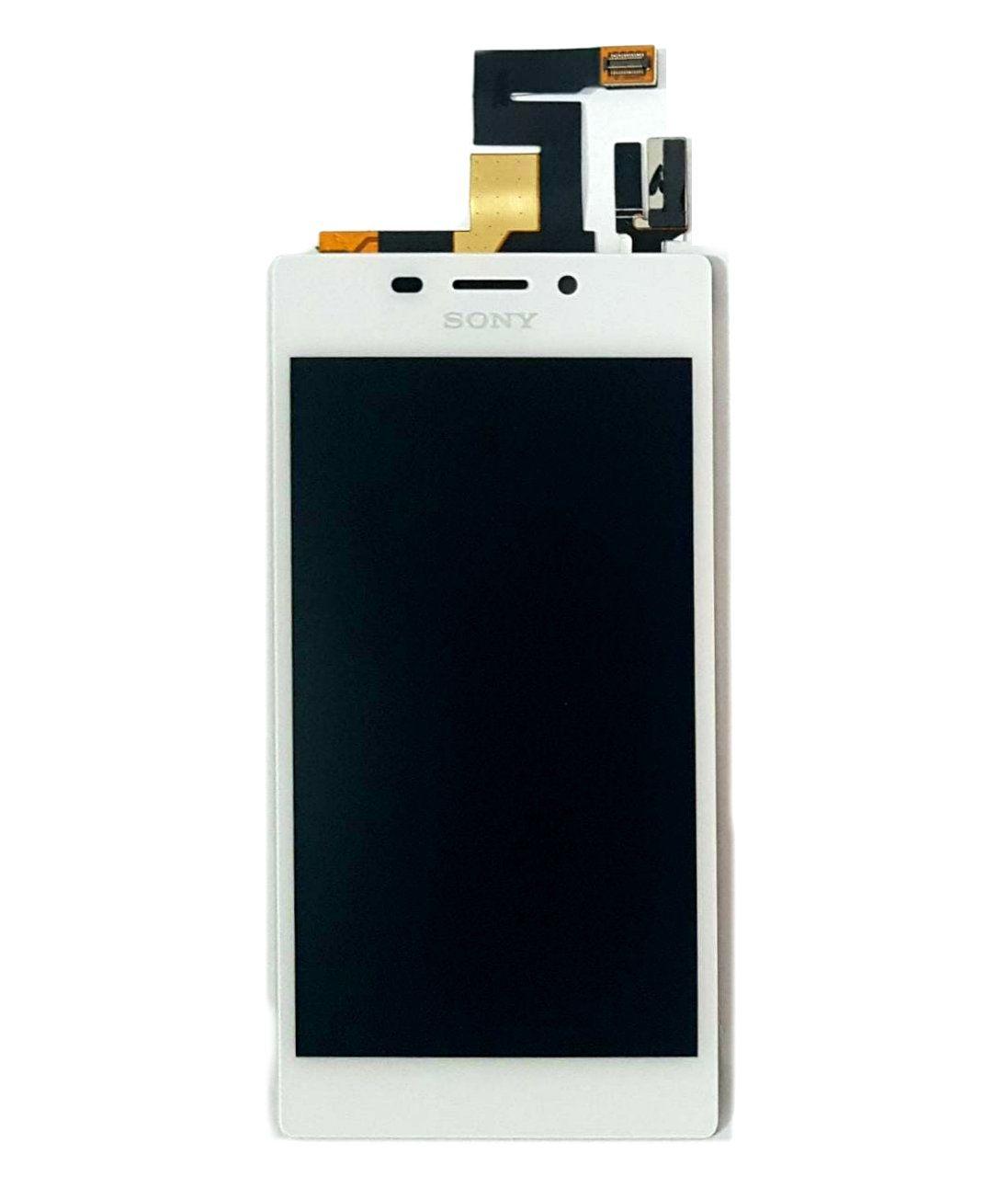 Display Frontal Sony Xperia M2 D2403 Branco 1 Linha sem Aro