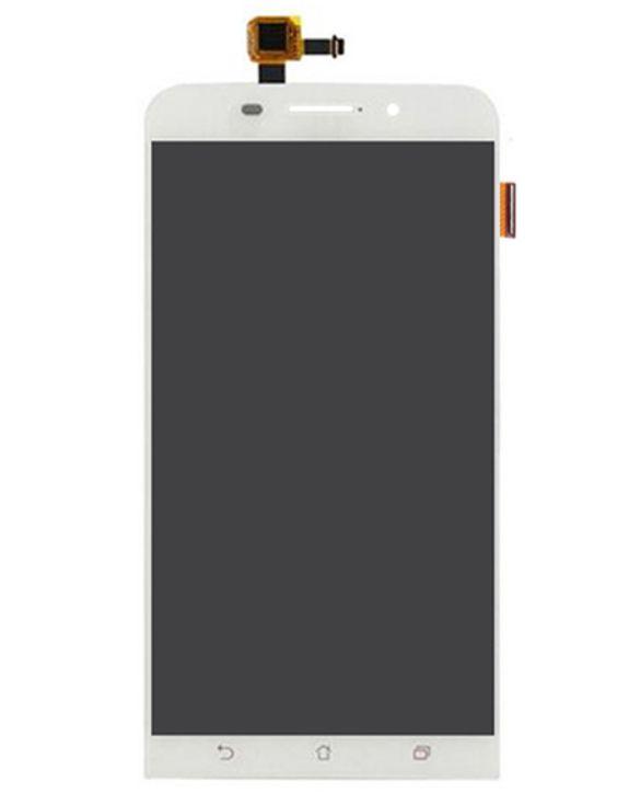 Display Frontal Zenfone Max ZC550KL Z010DA Z010DD 5,5 Polegadas Branco sem Aro 1 Linha Max