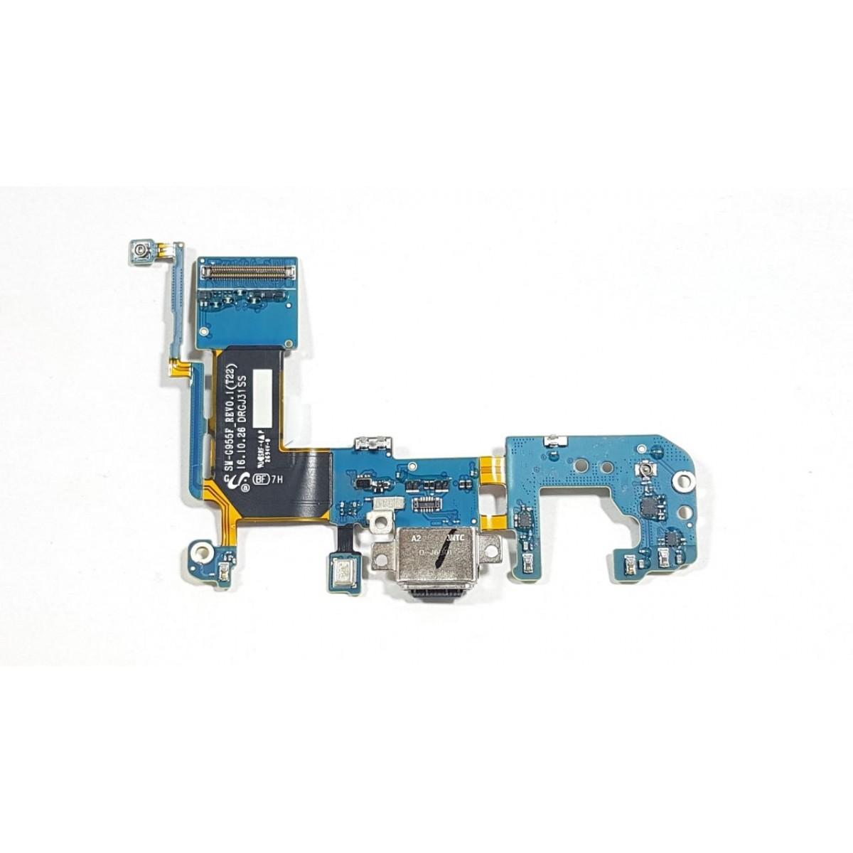 Flex Conector Carga USB S8 Plus G955F Versão F