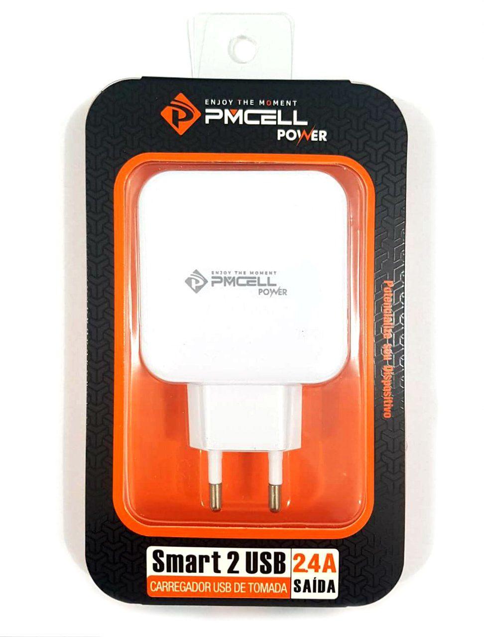 Fonte PMCELL Smart 779 ou Smart 731 com 2 Usb 2,4A Branco - Linha HC21