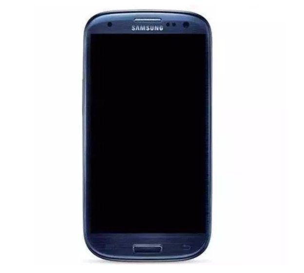 Frontal Samsung Galaxy S3 I9300 Azul com Aro 1 Linha