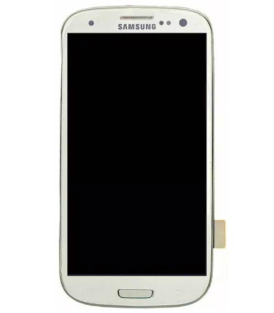 Frontal Samsung S3 I9300 Branco com Aro