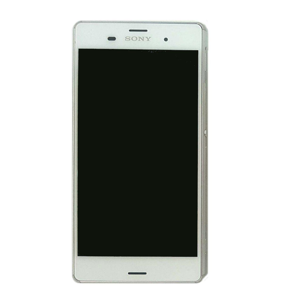 Display Frontal Sony Xperia Z3 D6633 D6653 Original Retirado Branco Com Aro (1 Chip)