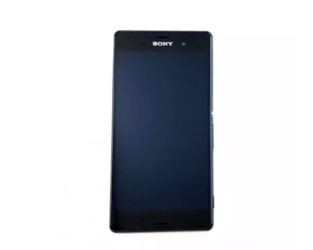 Frontal Sony Xperia Z3 D6653 D6643 1 Chip com Aro Preto - Original Retirado