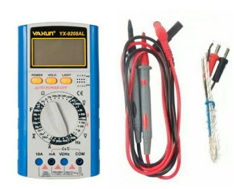 Multímetro Digital Universal Auto Power Off Yaxun Yx 9208al