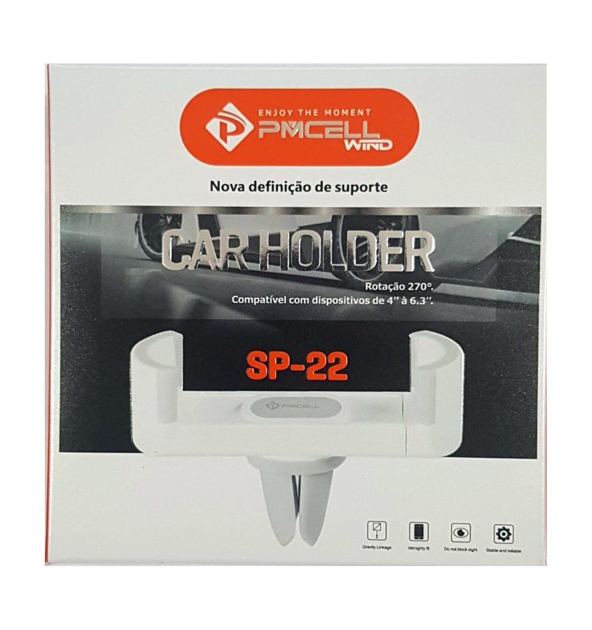 Suporte Veicular para Entrada de Ar Pmcell Rotação 270 de 4 a 6.3 Polegadas SP22 - Escolha Cor