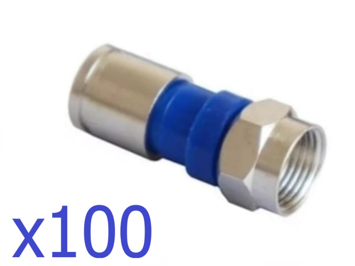 100 Conectores Compressão RG 6  - EMPORIO K