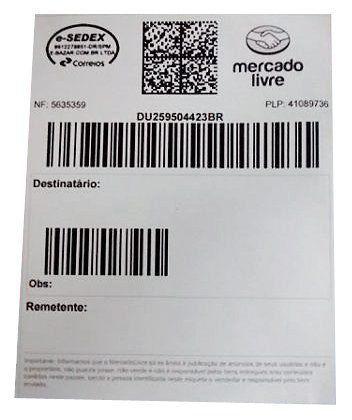 Rolo Etiqueta Adesiva Mercado Envio Zebra Couche 100x150 c/250 unidades  - EMPORIO K