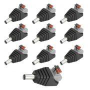 10 Conectores P4 Macho Engate Rápido Cftv