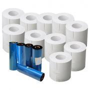 10 rolos c/ 250 Etiquetas 100x150 + 5 Ribbon Cera p/ Mercado Envios
