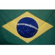 Bandeira Brasil Oficial Bordada 0,90 X 1,28  2 Panos