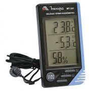 Relógio Termômetro Higrômetro Minipa Mt-241 3x1 Com Sensor Externo
