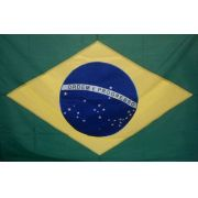 Bandeira Brasil Oficial Bordada 1,35 X 1,93 3 Panos Ilhos