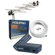 Antena Uhf + Conversor Digital Aquario Dtv 4000s + Cabo 15 M