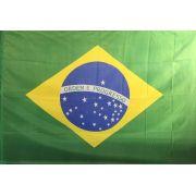 Bandeira Brasil Oficial Estampada 1,12 X 1,60 -2,5 Panos Dupla Face