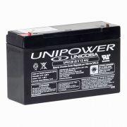 Bateria Selada Unipower VRLA 6 V  12Ah modelo UP6120