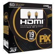 Cabo Hdmi 60 metros 1.4 4k Ultra Hd 3d 19 Pinos  Pix 018-6120