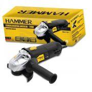 Esmerilhadeira Angular 710 W Rolamentada  Hammer EM-710-1 -220v