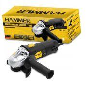 Esmerilhadeira Angular 710 W Rolamentada  Hammer EM-710-1 -110v