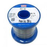 Estanho Ferro Solda Best 189 Msx10 60x40 250g Azul Fluxo Rolo
