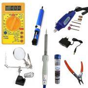 Kit Multímetro Solda e Eletrônica Manutenção Para Celular