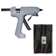 Kit Pistola Cola Quente Hikari Hpc-100 + 1 Kg Cola Preta