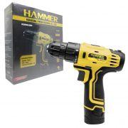Parafusadeira Furadeira 12v Bateria Lítio Bivolt PLI12 Hammer