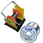 Suporte e Rolo de Estanho Solda Fluxo Cobix 500g Azul 60x40 1.0mm