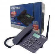 Telefone Celular Fixo Mesa CA 42-S Aquario Rural  Dual Chip Quadriband