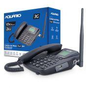 Telefone Celular Rural Fixo Aquario Ca 42S 3g 5 Bandas 2 Chip