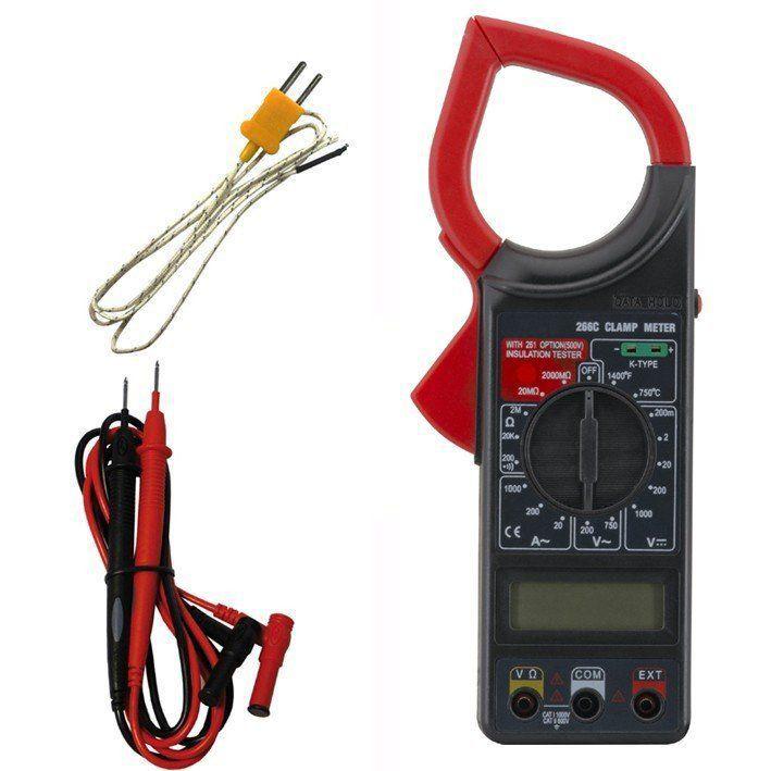 Alicate Amperímetro Digital Temperatura FT 266-C Termopar K  - EMPORIO K